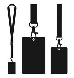 Silhouette of lanyard with neckband vector