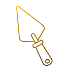 spatula construction tool handle icon vector image