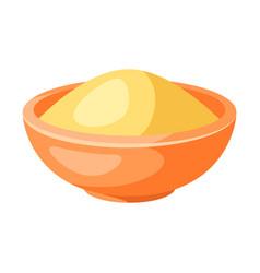 stylized plate porridge vector image