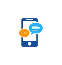 talk mobile logo icon design vector image
