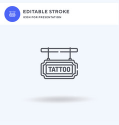 tattoo studio icon filled flat sign solid vector image
