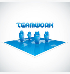 team business concept vector image