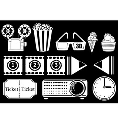 Things related to movies vector image