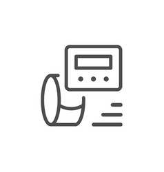 tonometer line icon vector image