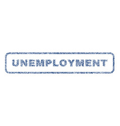 Unemployment textile stamp vector