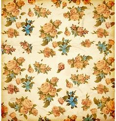 Vintage Floral Wallpaper vector image