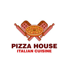 vintage pizza house italian food logo inspiration vector image