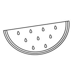 Watermelon juicy fruit thin line vector