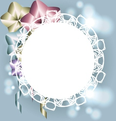White frame with ornaments for invitation template vector image