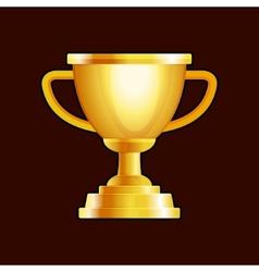 Winner Gold Cup on Dark Background vector image
