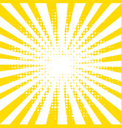 Yellow background with rays vector
