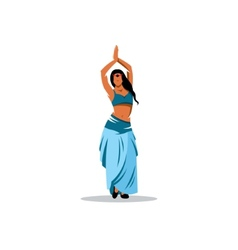 Belly dance girl sign vector image