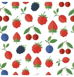 Seamless pattern with berries background vector image