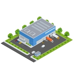 Set of flat on the theme of Logistics vector image