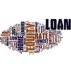 z home equity loan rate text background word vector image vector image