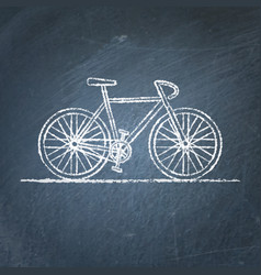 bicycle sketch on chalkboard vector image