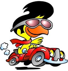 chicken car vector image