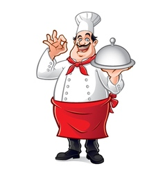 Fat Chef vector image