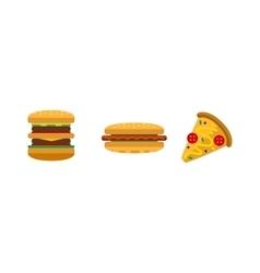 Hamburger and sandwich fast food vector image vector image