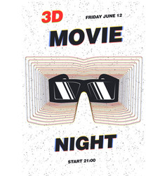 modern poster template for movie premiere night vector image