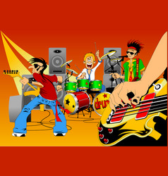 new rock group vector image