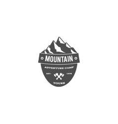 Old style mountain trekking climbing hiking vector image vector image