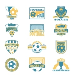Soccer sign set vector image vector image