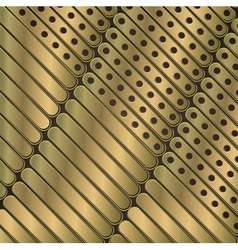 Steampunk background of thin metal plates vector image vector image