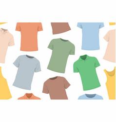 T-shirts seamless pattern vector