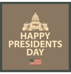 Happy President Day vector image