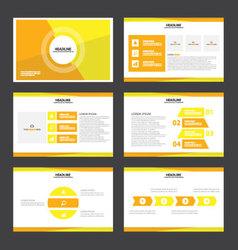 Orange yellow presentation templates Infographic vector image