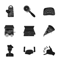 Pirates set icons in black style Big collection vector image vector image