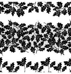 Seamless oak branches silhouettes vector image vector image