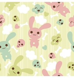 Seamless pattern with doodle kawaii vector image vector image