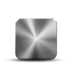 Square button metal vector image