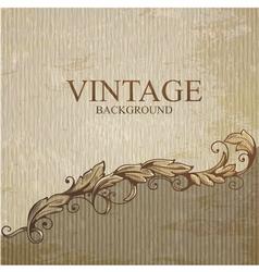 Vintage background with design elements vector image