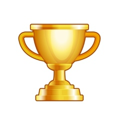 Winner gold cup on white background vector