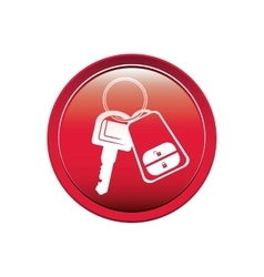 Button with keys and keychain vector