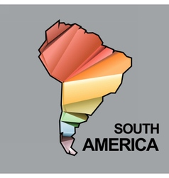 Digital south america map with abstract vector