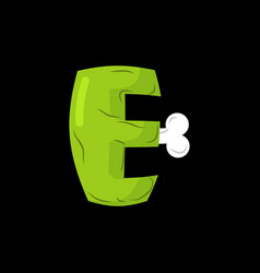 letter e zombie font monster alphabet bones and vector image vector image