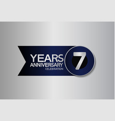 7 years anniversary logo style with circle vector