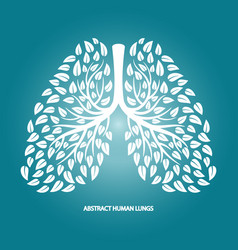abstract human lungs from foliage vector image