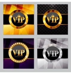 Abstract Luxury Background Set vector
