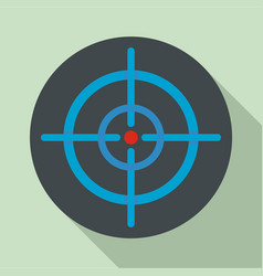 Aim scope target icon flat style vector