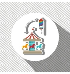 Amusement park design vector