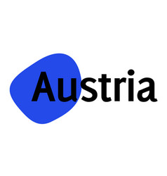 Austria sticker stamp vector
