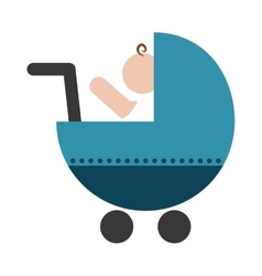 baby cart icon vector image