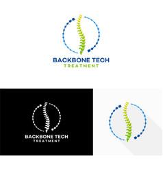 Backbone treatment logo template designs vector
