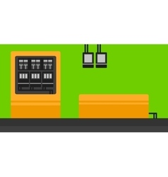Background of electric switchboard vector image