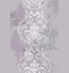 baroque texture pattern floral ornament vector image
